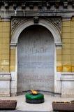 Wiecznie płomienia lub VjeÄ  na vatra dedykował ofiary wojna światowa Dwa Sarajevo Bośnia Hercegovina Zdjęcia Royalty Free