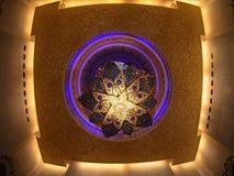 Świecznik przy Uroczystym meczetem Fotografia Stock