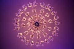 Świecznik w bankiet sala Zdjęcie Royalty Free