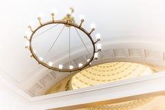 Świecznik w Moskwa metrze Zdjęcie Royalty Free