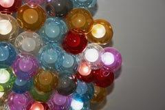 Świecznik w postaci kolorowych balonów Obrazy Royalty Free