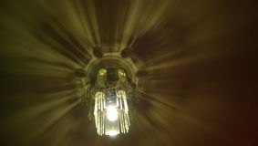 Świecznika cienia praca Fotografia Stock