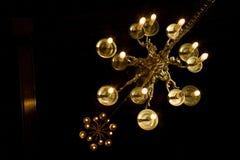 świeczniki dwa Zdjęcie Royalty Free