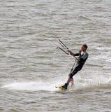 wieczorem jasno latawce surfer słońca Fotografia Royalty Free