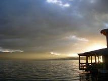 wieczorem jeziora Obrazy Stock