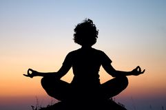 wieczorem medytacji Fotografia Stock