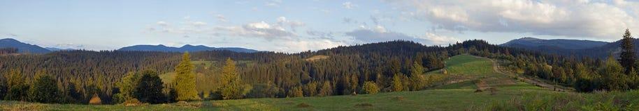 wieczorem moantain panorama Zdjęcie Stock