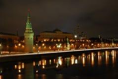 wieczorem Moscow Zdjęcia Stock