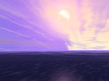 wieczorem niebo Royalty Ilustracja