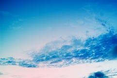 wieczorem niebo Zdjęcia Stock