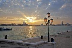 wieczorem Wenecji Fotografia Stock
