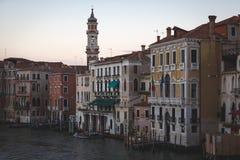 wieczorem Wenecji Obrazy Royalty Free