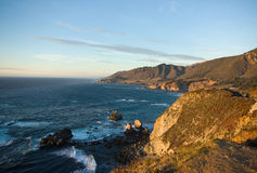wieczorem wybrzeża kalifornii zachód Zdjęcie Stock
