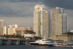 Wieczór W Miami Obrazy Royalty Free