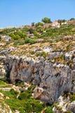 Wied Babu depresja na południowym wybrzeżu Malta wyspa Obraz Stock