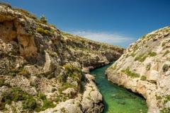 Wied il-Ghasri, Gozo, Malta. Wied il-Ghasri in Gozo, Malta Stock Photography
