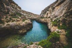 Wied Il Ghasri, Gozo stock photography