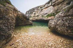 Wied Il Ghasri, Gozo royalty free stock images