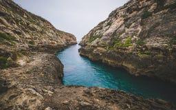 Wied Il Ghasri, Gozo stock photo