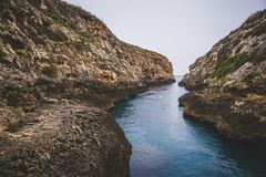 Wied Il Ghasri, Gozo royalty free stock photo