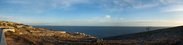 Wied iz-Zurrieq Panorama Royalty Free Stock Image