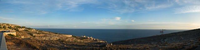 Wied iz-Zurrieq Panorama Obraz Royalty Free