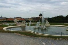 Wiedeń - park przy Schönbrunn pałac fotografia stock