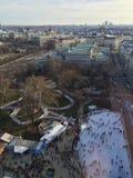 Wiedeń łyżwiarski obręcz od above Obraz Royalty Free