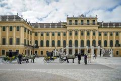 WIEDEŃ, AUSTRIA/EUROPE - WRZESIEŃ 23: Konie i frachty przy obrazy royalty free
