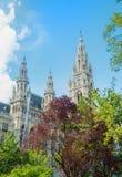 WIEDEŃ AUSTRIA, LIPIEC, - 29, 2016: Urzędu miasta Rathaus mrówka wysoki tr Obrazy Royalty Free