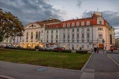 WIEDEŃ AUSTRIA, PAŹDZIERNIK, - 09, 2016: filharmonia lokalizować w Wiedeń, Austria który otwierał w 1913, Fotografia Stock