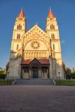 WIEDEŃ AUSTRIA, PAŹDZIERNIK, - 07, 2016: St Francis Assisi kościół, Wiedeń Także znać jako Kaiser Jubileuszowy kościół C i Meksyk Obraz Royalty Free