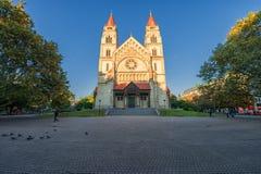 WIEDEŃ AUSTRIA, PAŹDZIERNIK, - 07, 2016: St Francis Assisi kościół, Wiedeń Także znać jako Kaiser Jubileuszowy kościół C i Meksyk Obrazy Royalty Free