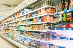 WIEDEŃ AUSTRIA, PAŹDZIERNIK, - 20, 2015: Supermarket Merkur w Vienn Obrazy Royalty Free