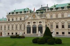WIEDEŃ AUSTRIA, Sierpień 27 belweder, - pałac na Sierpień 27, 2014 i Fotografia Stock