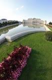 Wiedeń Austria, Sierpień, - 28, 2014: Widok jezioro i obsada Zdjęcia Royalty Free