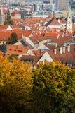 Wiedeń dachy na jaskrawym Obraz Royalty Free