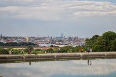 Wiedeń linia horyzontu od Schonbrunn zdjęcie stock