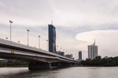 Wiedeń nowożytny architektoniczny krajobraz Fotografia Royalty Free