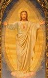 Wiedeń - serce Jezusowa farba na głównym ołtarzu Sacre Coeur kościół Anna Maria Von Oer (1846†'1929) zdjęcia stock
