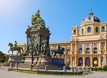 WIEDEŃ, SIERPIEŃ 8: Maria Theresia zabytek przed Kunsth obraz stock