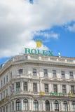 WIEDEŃ AUSTRIA, CZERWIEC, - 01, 2016: rolex budynek przy Vienna, a Fotografia Royalty Free