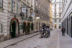Wiedeń backstreet Zdjęcia Royalty Free