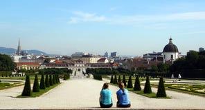 Wiedeń, Belveder ogród - zdjęcie royalty free