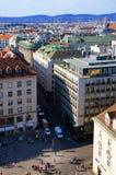 Wiedeń miasta widok od Stephansdom Obrazy Royalty Free
