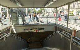 Wiedeń U-Bahn Zdjęcia Royalty Free