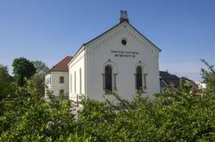 Wieder aufgebaute Synagoge in Hermanuv-mestec in der Tschechischen Republik rührte von das 17. Jahrhundert her Lizenzfreie Stockfotografie