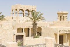 Wieder aufgebautes arabisches Dorf Stockbild