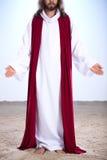 Wieder belebter Jesus, der auf Sand steht Lizenzfreies Stockfoto