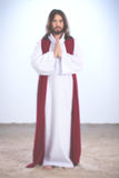 Wieder belebtes Jesus Christ-Beten stockfotos